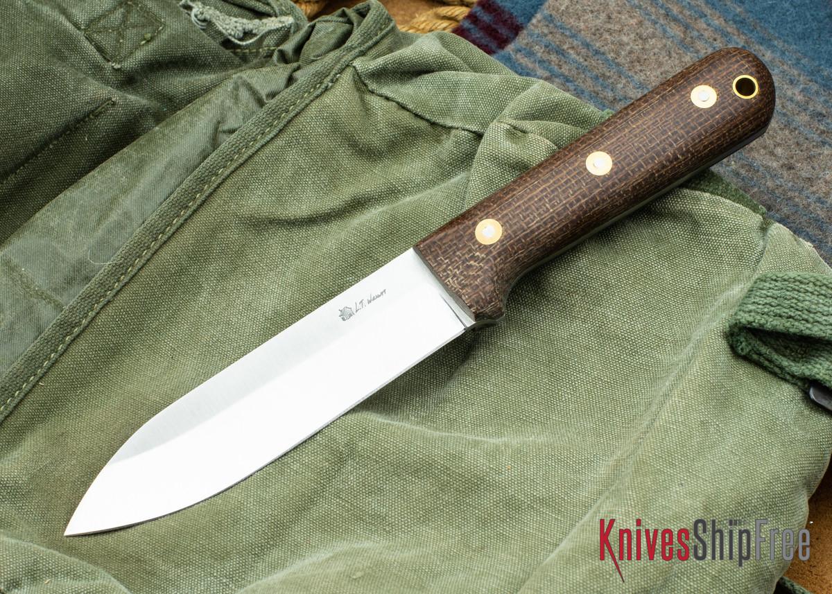 L.T. Wright Knives: Gen 5 - Saber Grind - Burlap Micarta - Matte primary image