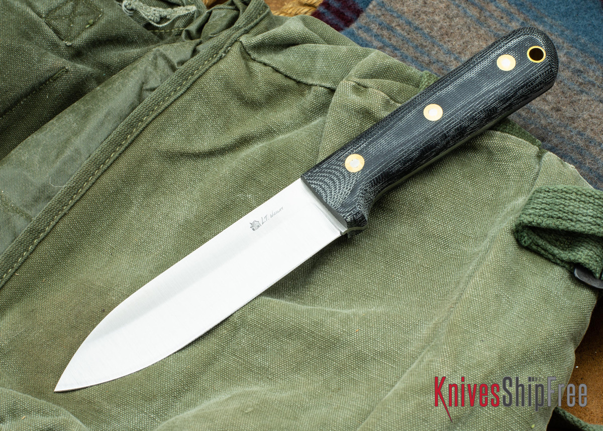 L.T. Wright Knives: Gen 5 - Saber Grind - Black Canvas Micarta - Matte primary image
