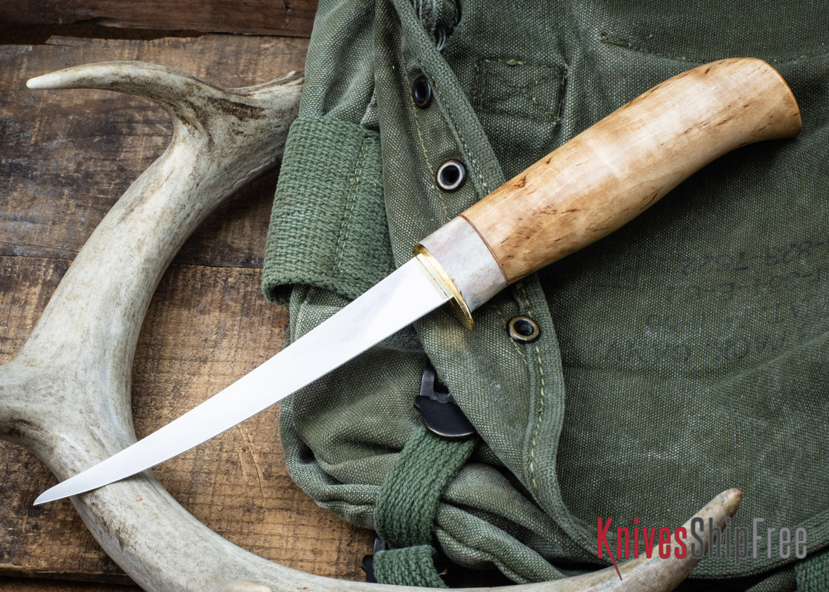 "Karesuando: 5"" Fillet Knife - Curly Birch 02"