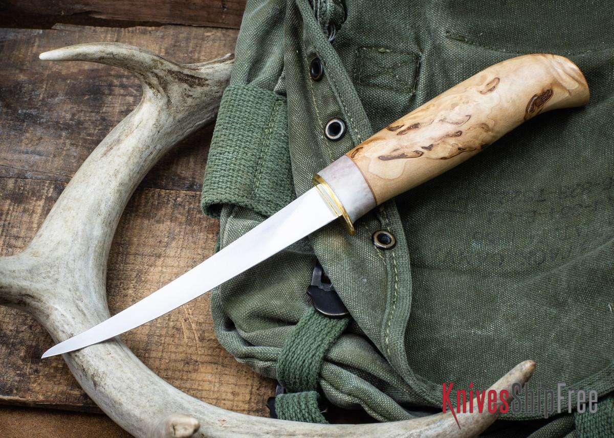 "Karesuando: 5"" Fillet Knife - Curly Birch 05 primary image"
