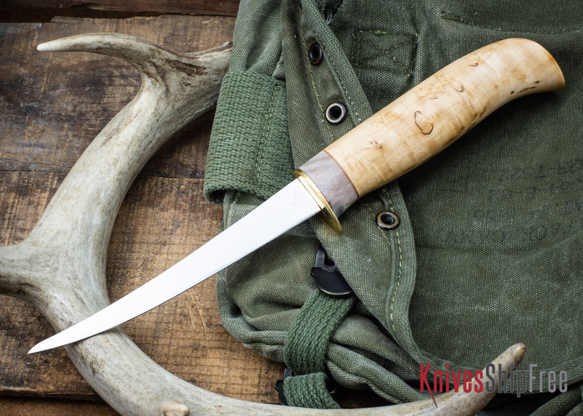 "Karesuando: 5"" Fillet Knife - Curly Birch 09 primary image"