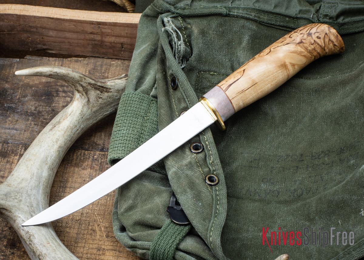 "Karesuando: 6"" Fillet Knife - Curly Birch 02 primary image"