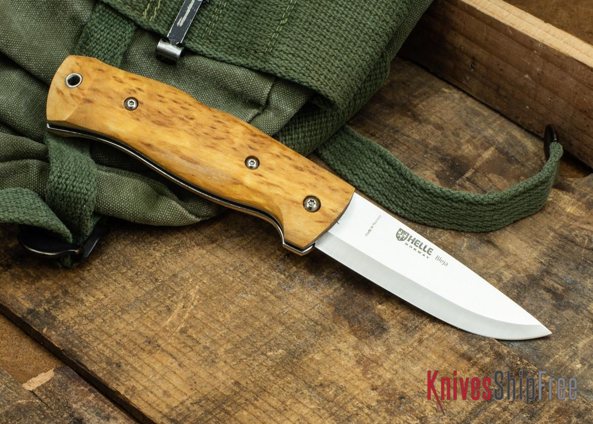 Helle Bleja - Folding Scandi Knife - Curly Birch 01 primary image
