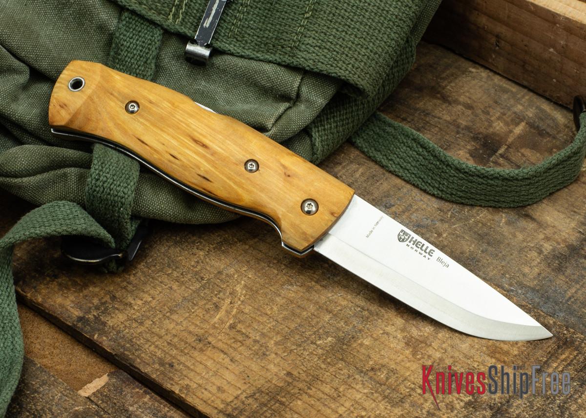 Helle Bleja - Folding Scandi Knife - Curly Birch 03 primary image