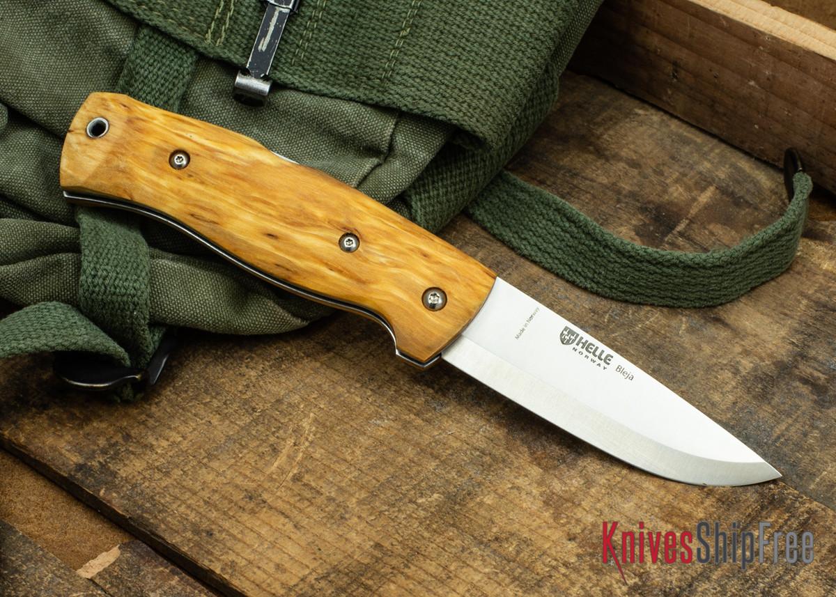 Helle Bleja - Folding Scandi Knife - Curly Birch 05 primary image