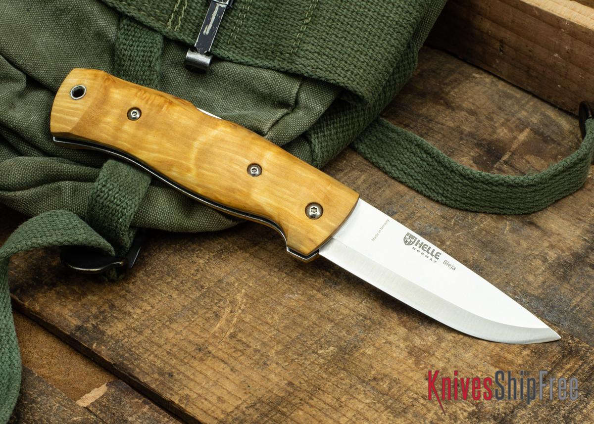 Helle Bleja - Folding Scandi Knife - Curly Birch 06 primary image