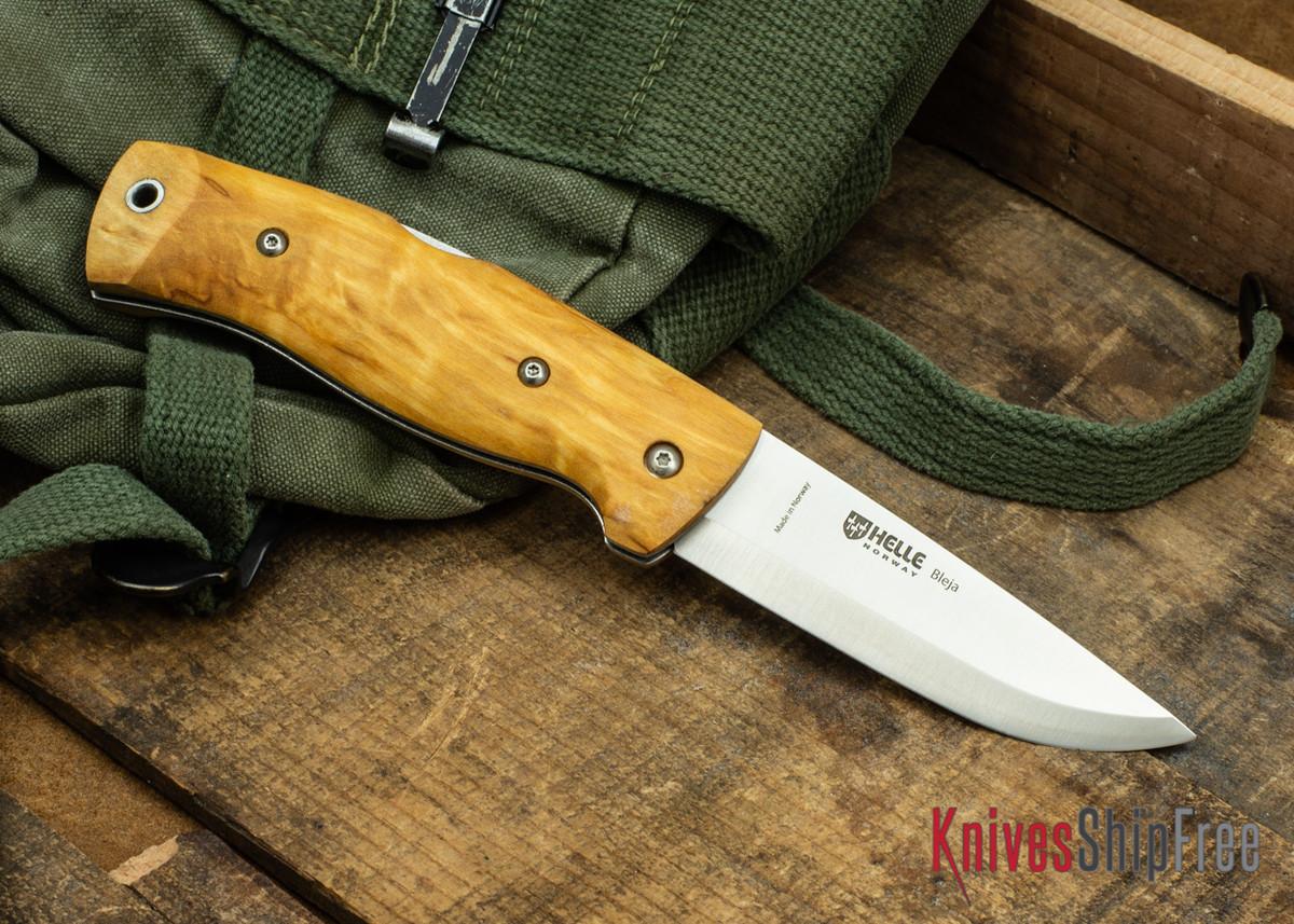 Helle Bleja - Folding Scandi Knife - Curly Birch 09 primary image