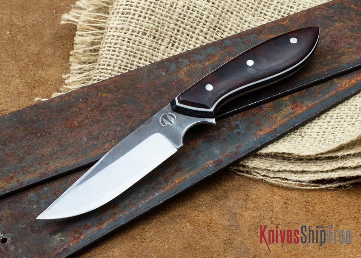 "Carter Cutlery: 3.54"" Muteki #1897 Clip Point Original - Desert Ironwood - White & Black Liners primary image"