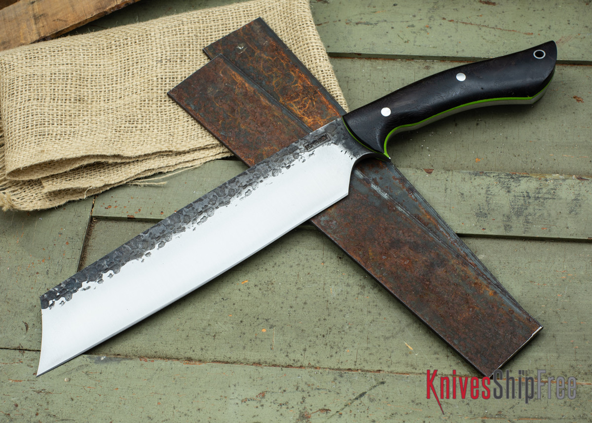 Lon Humphrey Knives: Retribution - Black Walnut - Lime Green Liners - 047 primary image