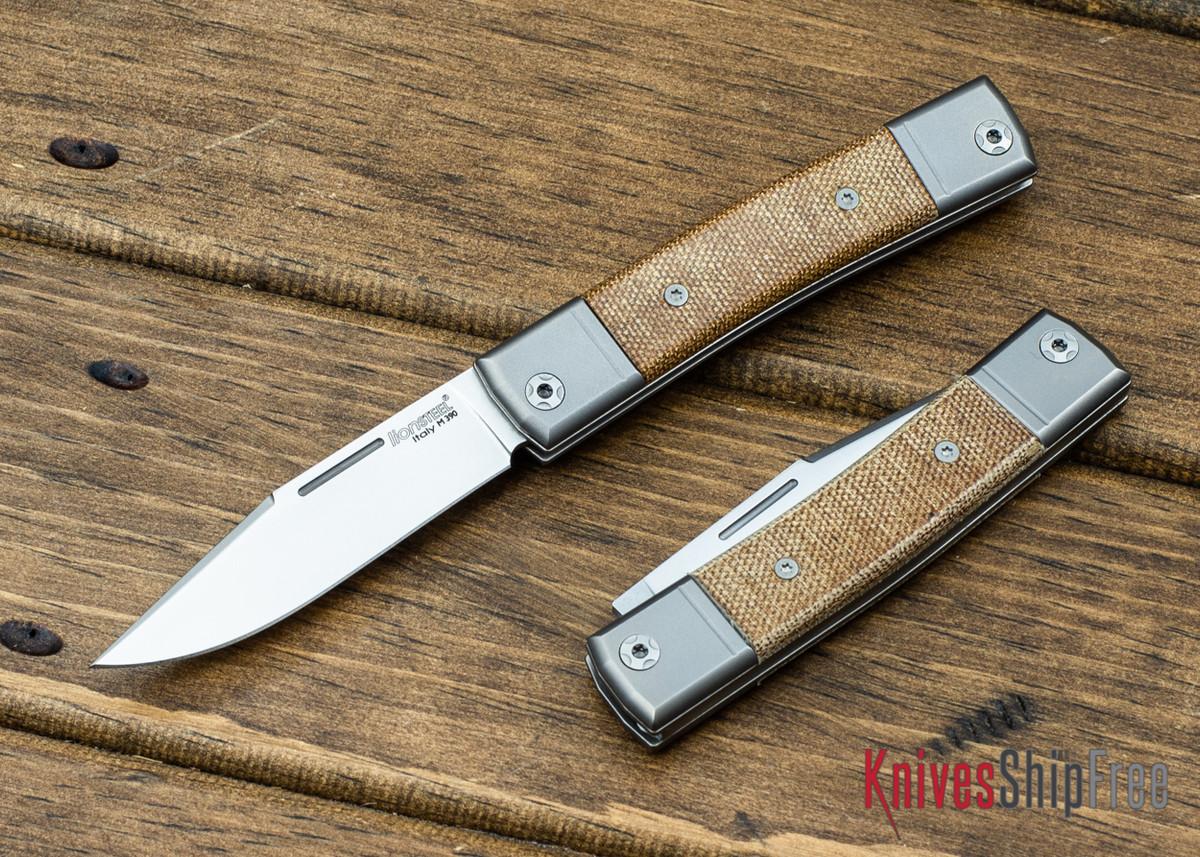LionSteel: BestMan Pocket Knife - Bohler M390 - Natural Canvas Micarta primary image