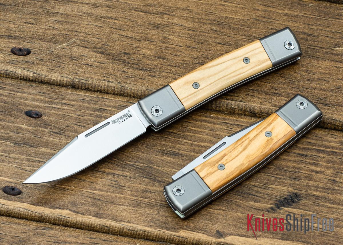 LionSteel: BestMan Pocket Knife - Bohler M390 - Olive Wood primary image