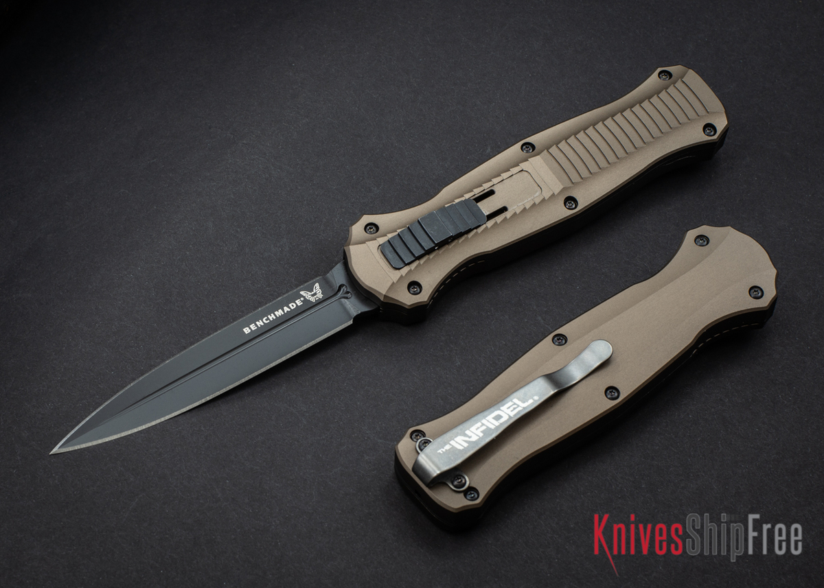 Benchmade Knives: 3300BK-1901 Infidel - Limited Edition - Burnt Bronze Finish - CPM S30V - Smoke Gray PVD Coating primary image