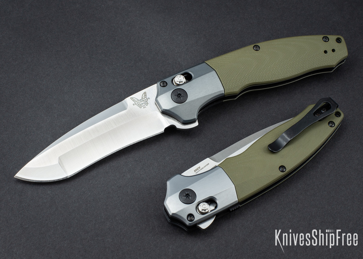 Benchmade Knives: 496 Vector - OD Green G-10 - White Liners - CPM 20CV - AXIS Assist Flipper primary image
