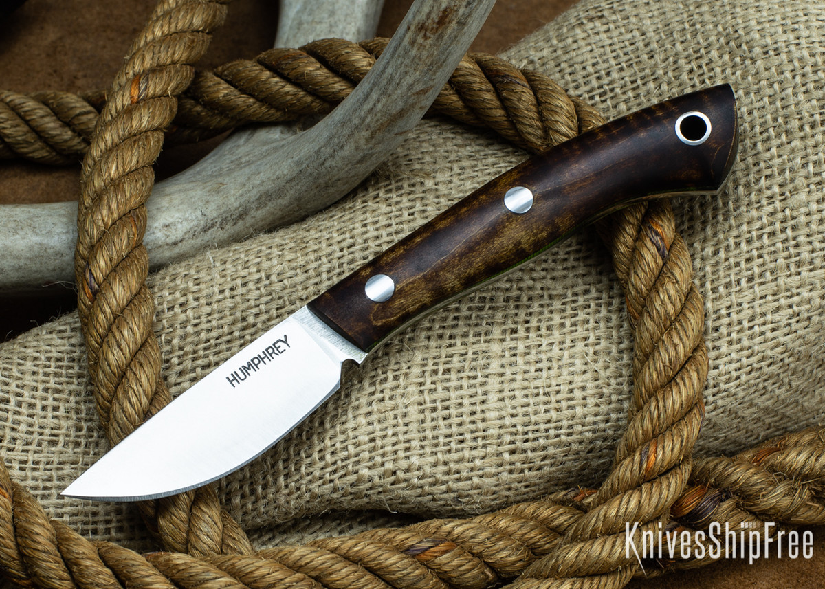Lon Humphrey Knives: Tarpon 3V - Dark Curly Maple - Lime Green Liners 19 primary image