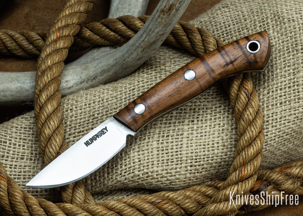 Lon Humphrey Knives: Tarpon 3V - Curly Koa - Black Liners 83 primary image