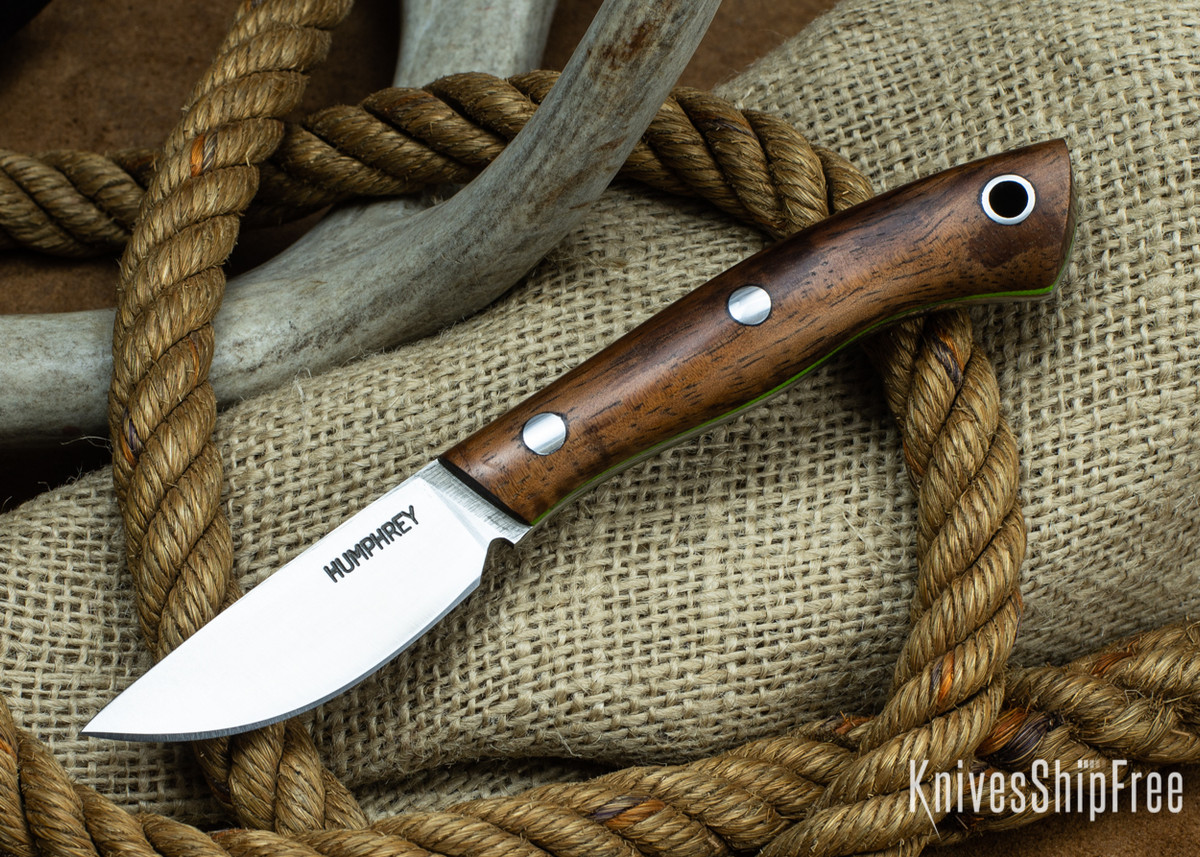 Lon Humphrey Knives: Tarpon 3V - Curly Koa - Lime Green Liners 87 primary image