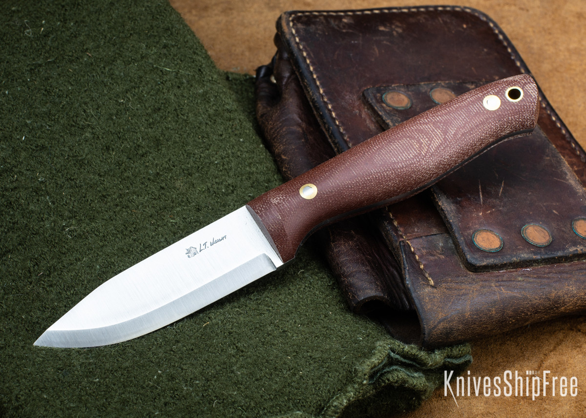 L.T. Wright Knives: Switchback - Rustic Brown Micarta - Matte primary image