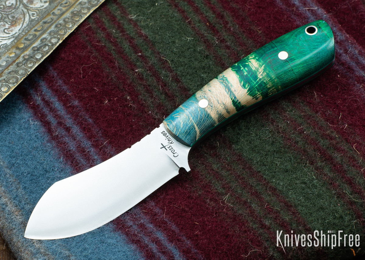 Cross Knives: Lil Muk - Dyed Sycamore - Green Liners