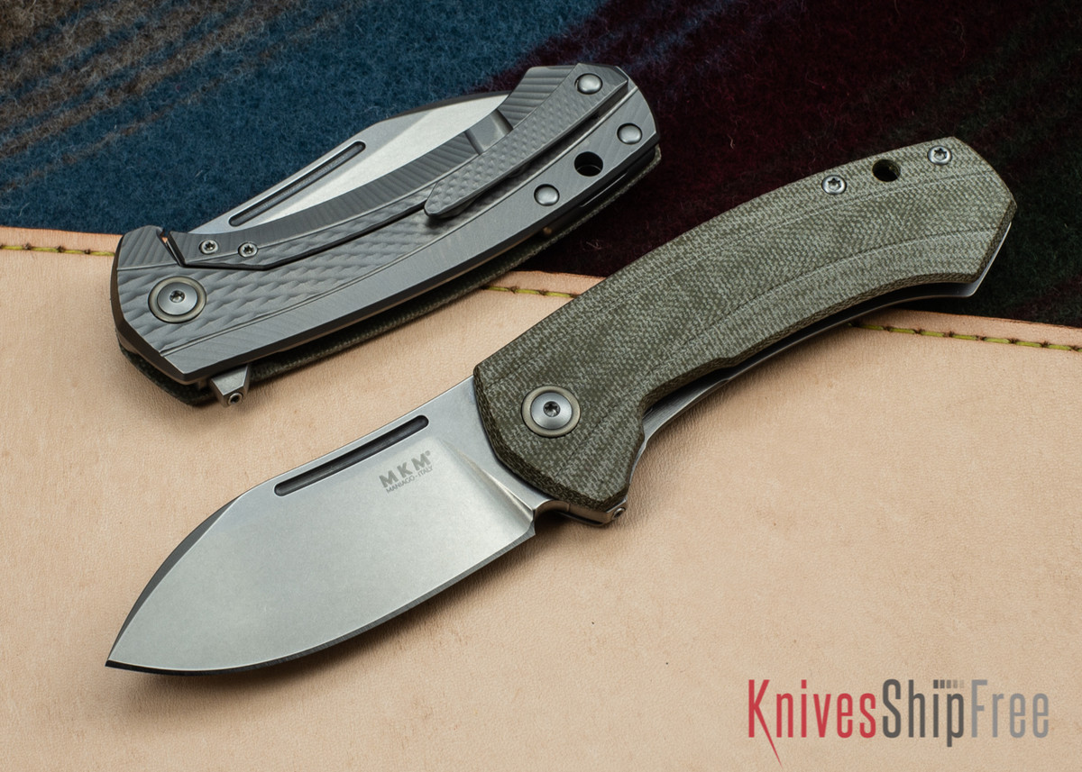 MKM: Colvera Flipper - Green Canvas Micarta - M390