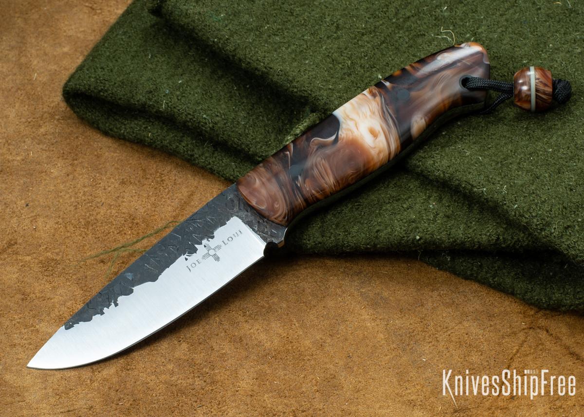 Joe Loui Knives: Bushcrafter - Rootbeer Float Acrylic - 1084 Steel primary image