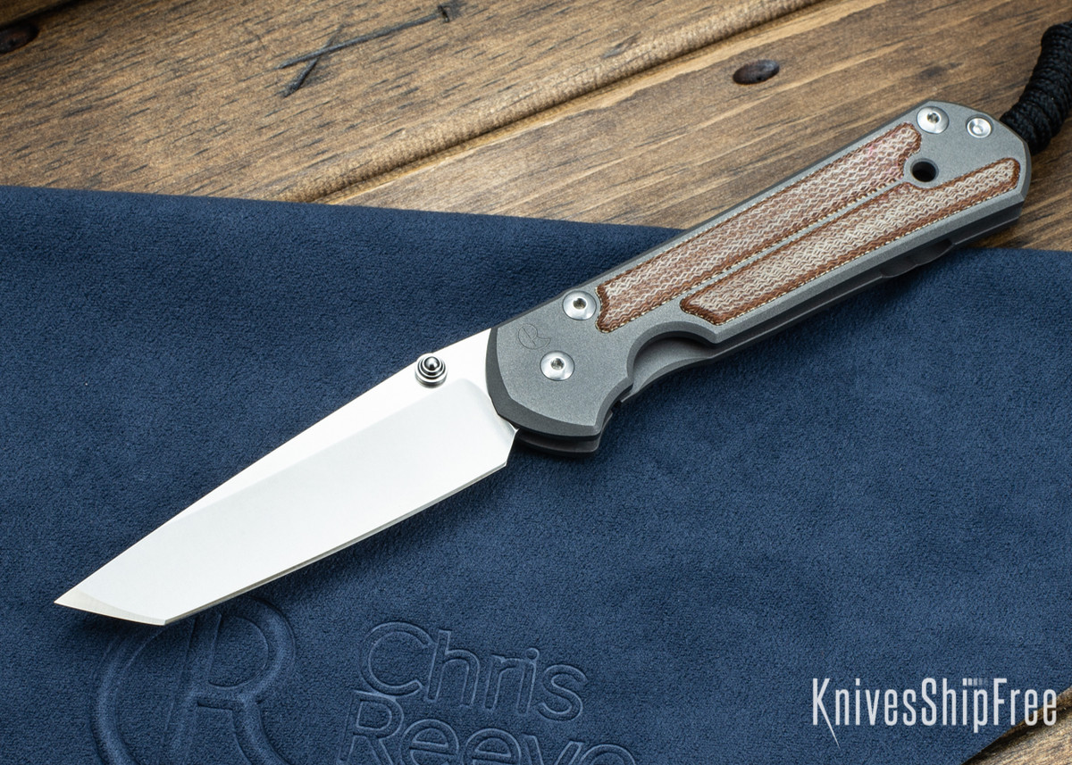 Chris Reeve Knives: Large Sebenza 21 - Tanto - Natural Micarta Inlay primary image