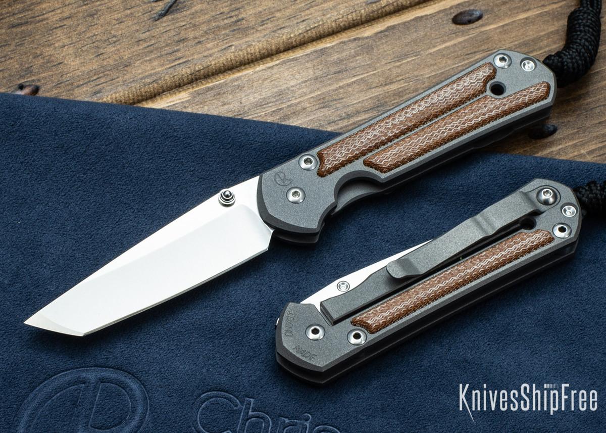 Chris Reeve Knives: Small Sebenza 21 - Tanto - Natural Micarta Inlay primary image