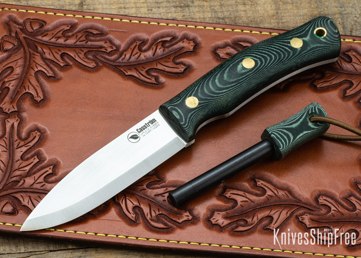 Casstrom: No.10 Swedish Forest Knife - Green Micarta w/ Firesteel