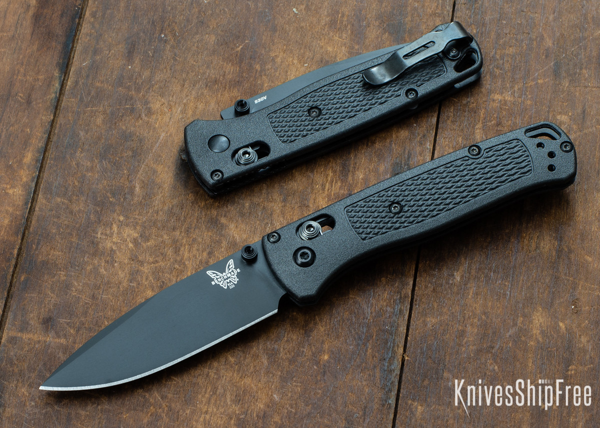 Benchmade Knives: 535BK-2 Bugout - Graphite Black CF-Elite Scales - AXIS Lock - CPM-S30V primary image