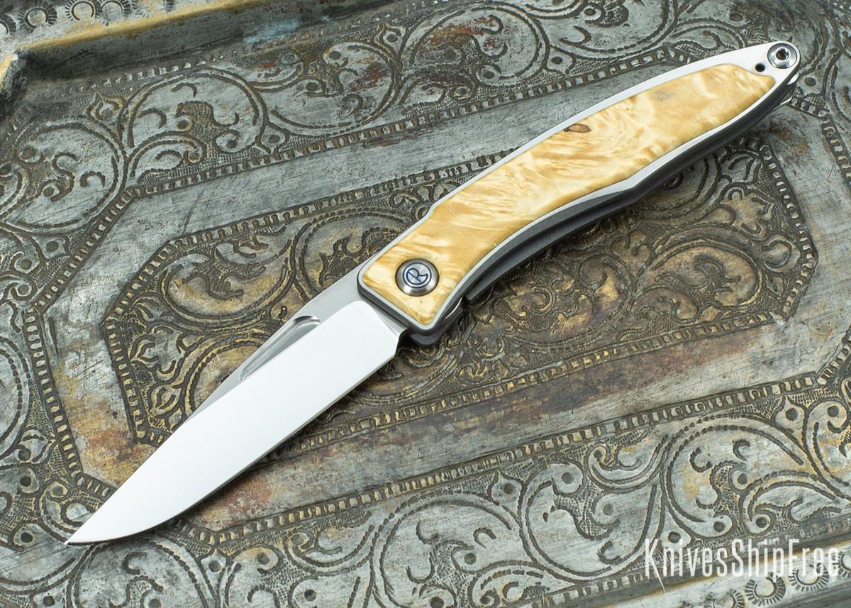Chris Reeve Knives: Mnandi - Box Elder Burl - 020421 primary image