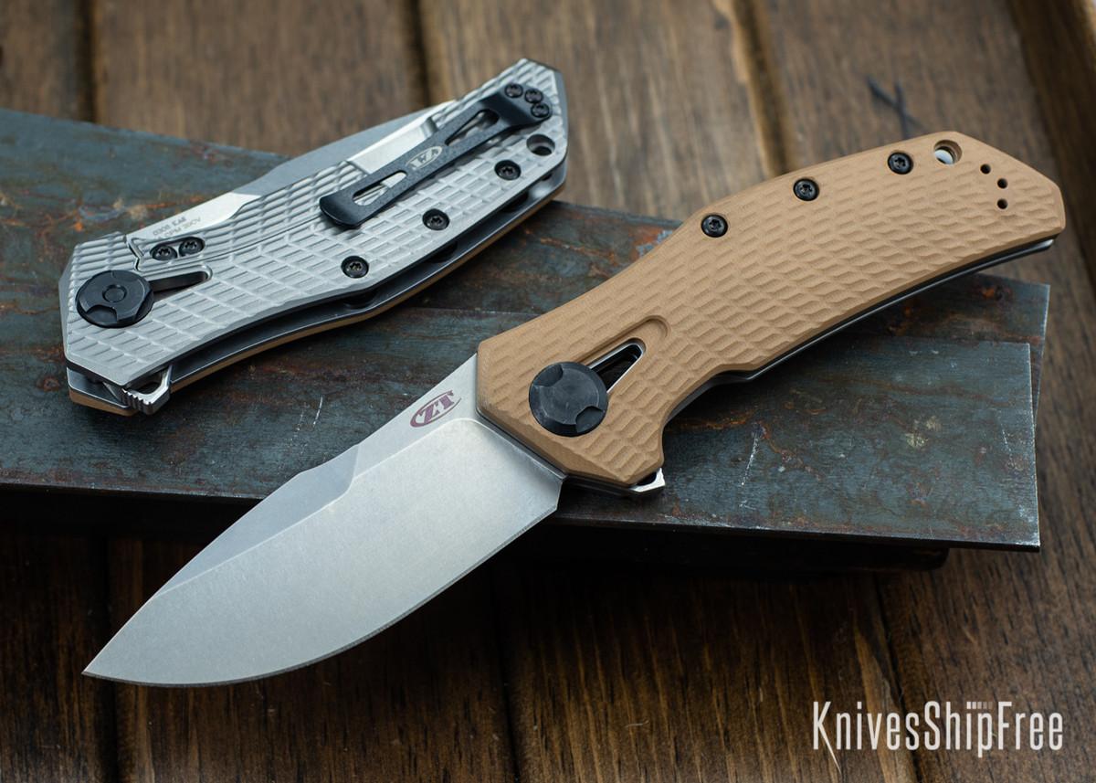 Zero Tolerance: 0308 - Coyote Tan G-10 - KVT Bearing Flipper - CPM-20CV primary image