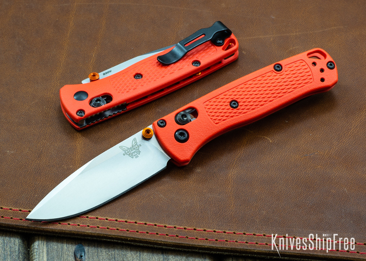 Benchmade Knives: 533 Mini Bugout - Orange Grivory - AXIS Lock - CPM S30V primary image