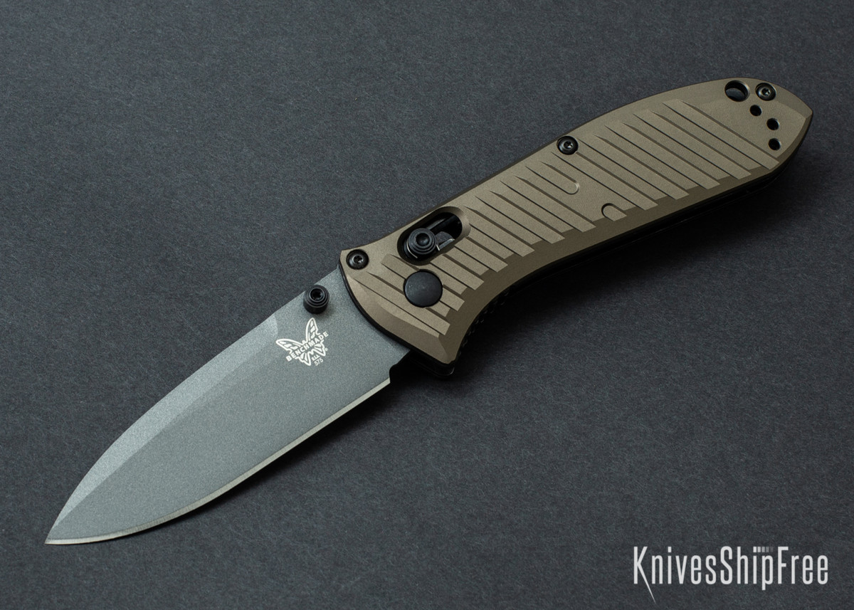 Benchmade Knives: 575GY-2001 Mini Presidio II - Burnt Bronze Aluminum - CPM M4 - Gray Cerakote - Limited Edition primary image