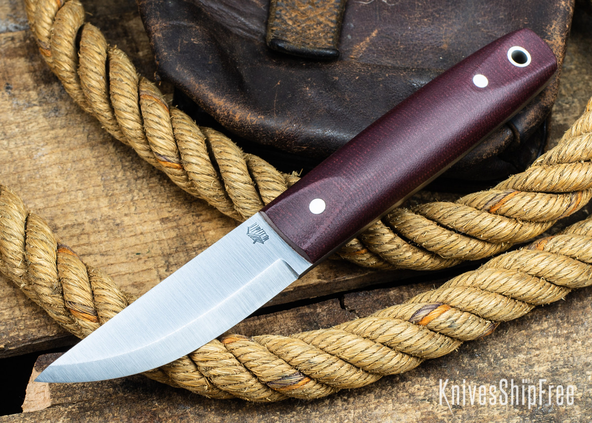 L.T. Wright Knives: Pronghorn 3V - Scandi - Double Red Micarta - Matte primary image