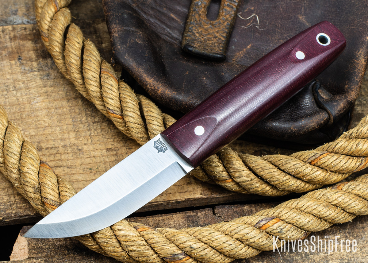 L.T. Wright Knives: Pronghorn 3V - Scandi - Double Red Micarta - Polished primary image