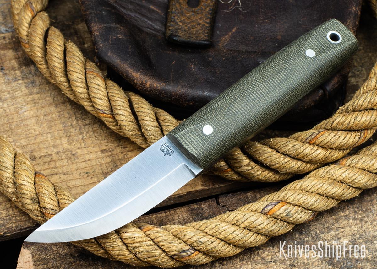 L.T. Wright Knives: Pronghorn 3V - Scandi - Green Micarta - Matte primary image