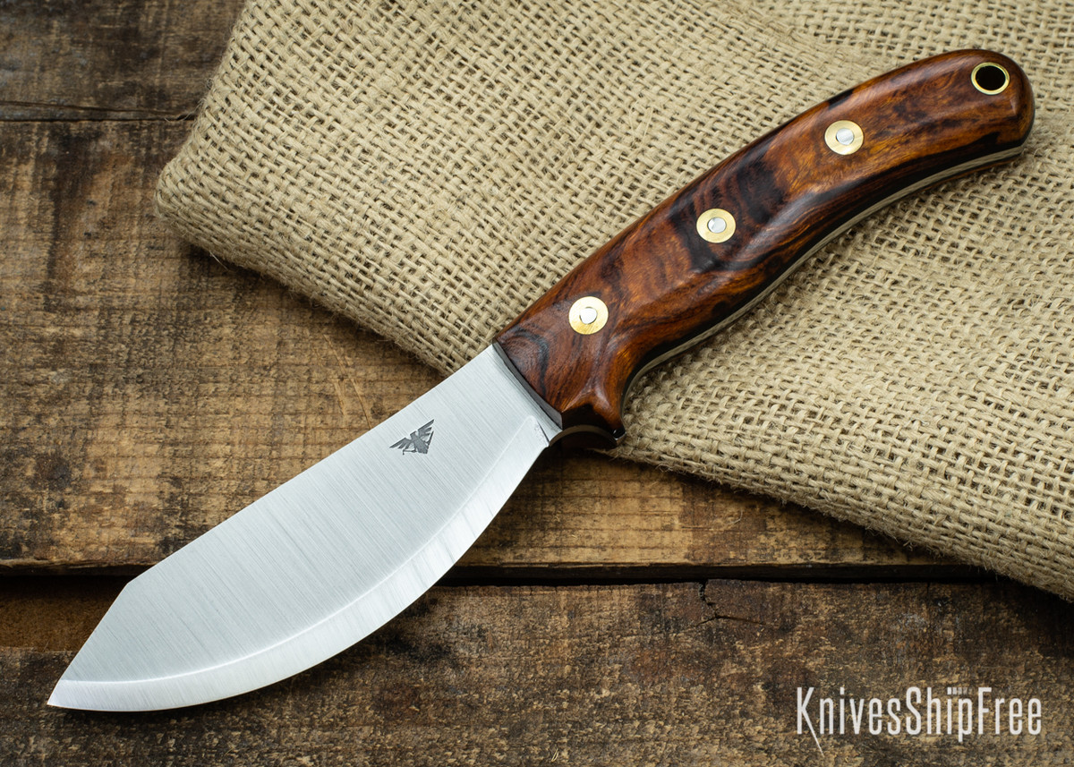 L.T. Wright Knives: JX2 Jessmuk - CPM 3V - Desert Ironwood - Black Liners 06 primary image
