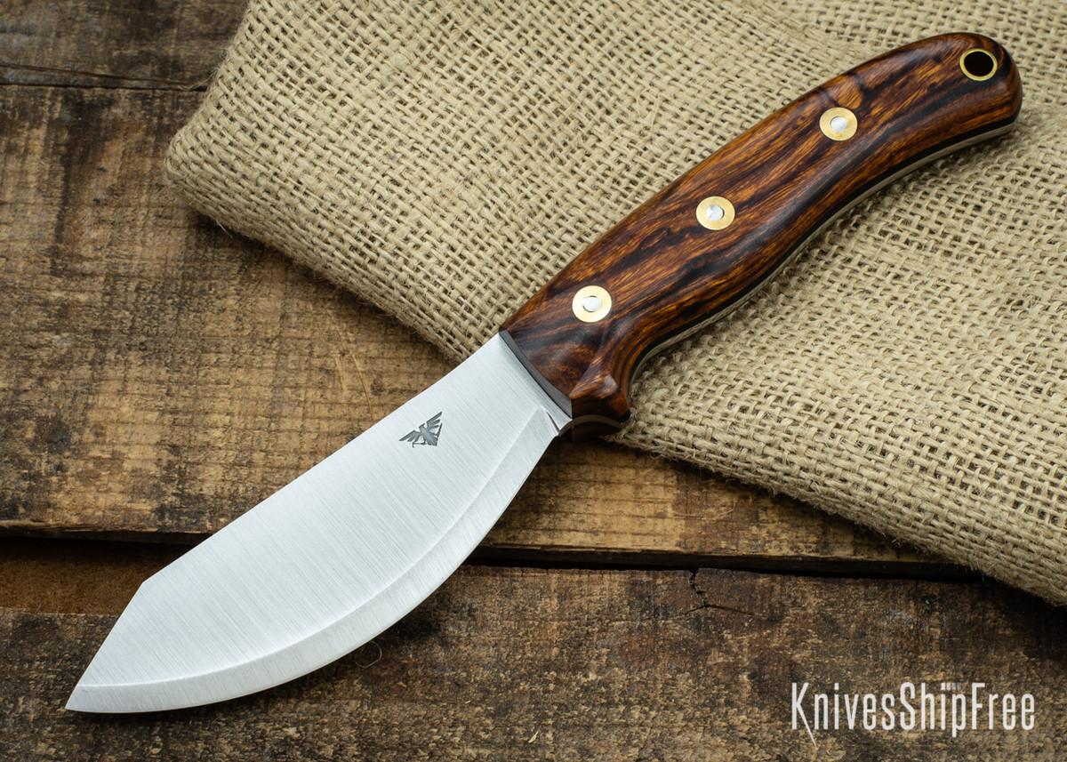 L.T. Wright Knives: JX2 Jessmuk - CPM 3V - Desert Ironwood - Black Liners 07 primary image
