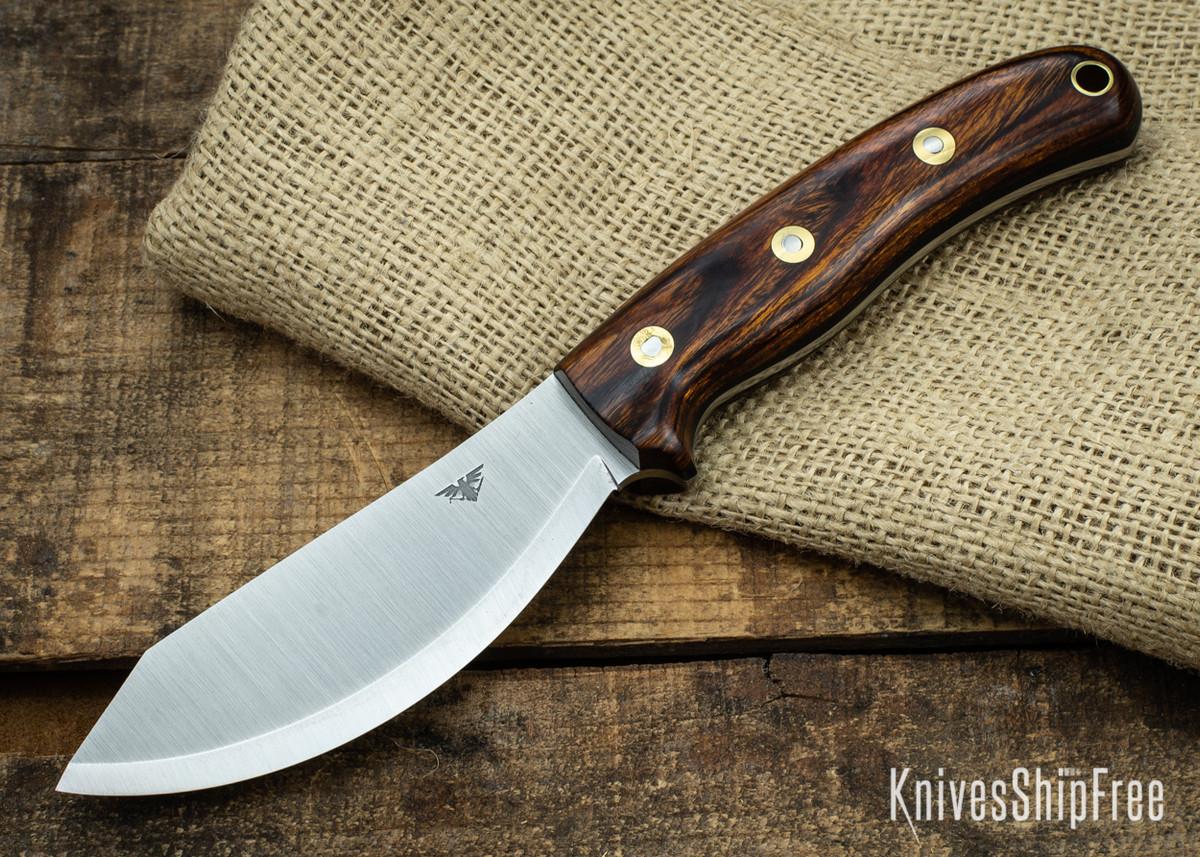L.T. Wright Knives: JX2 Jessmuk - CPM 3V - Desert Ironwood - Black Liners 09 primary image