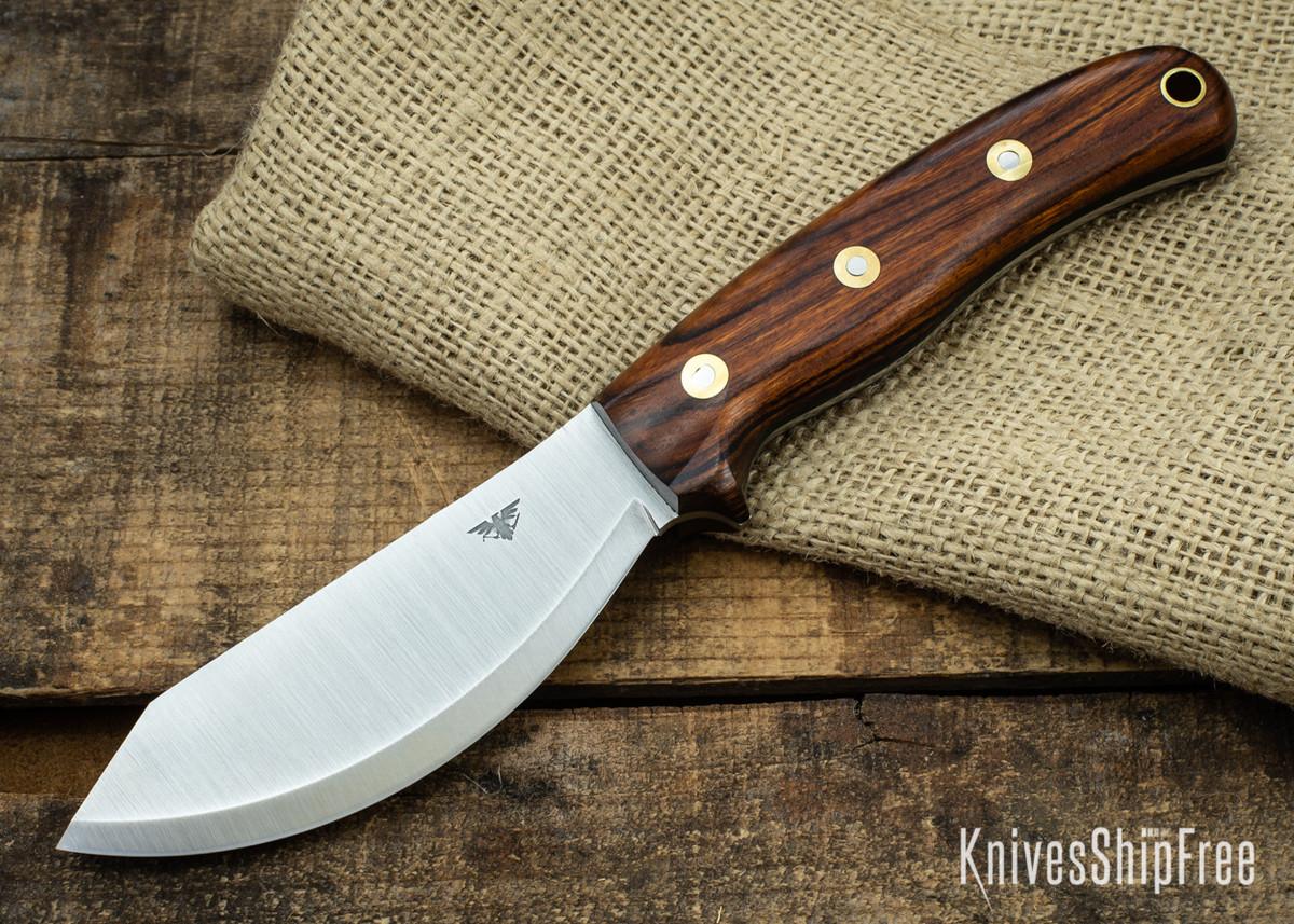 L.T. Wright Knives: JX2 Jessmuk - CPM 3V - Desert Ironwood - Black Liners 10 primary image