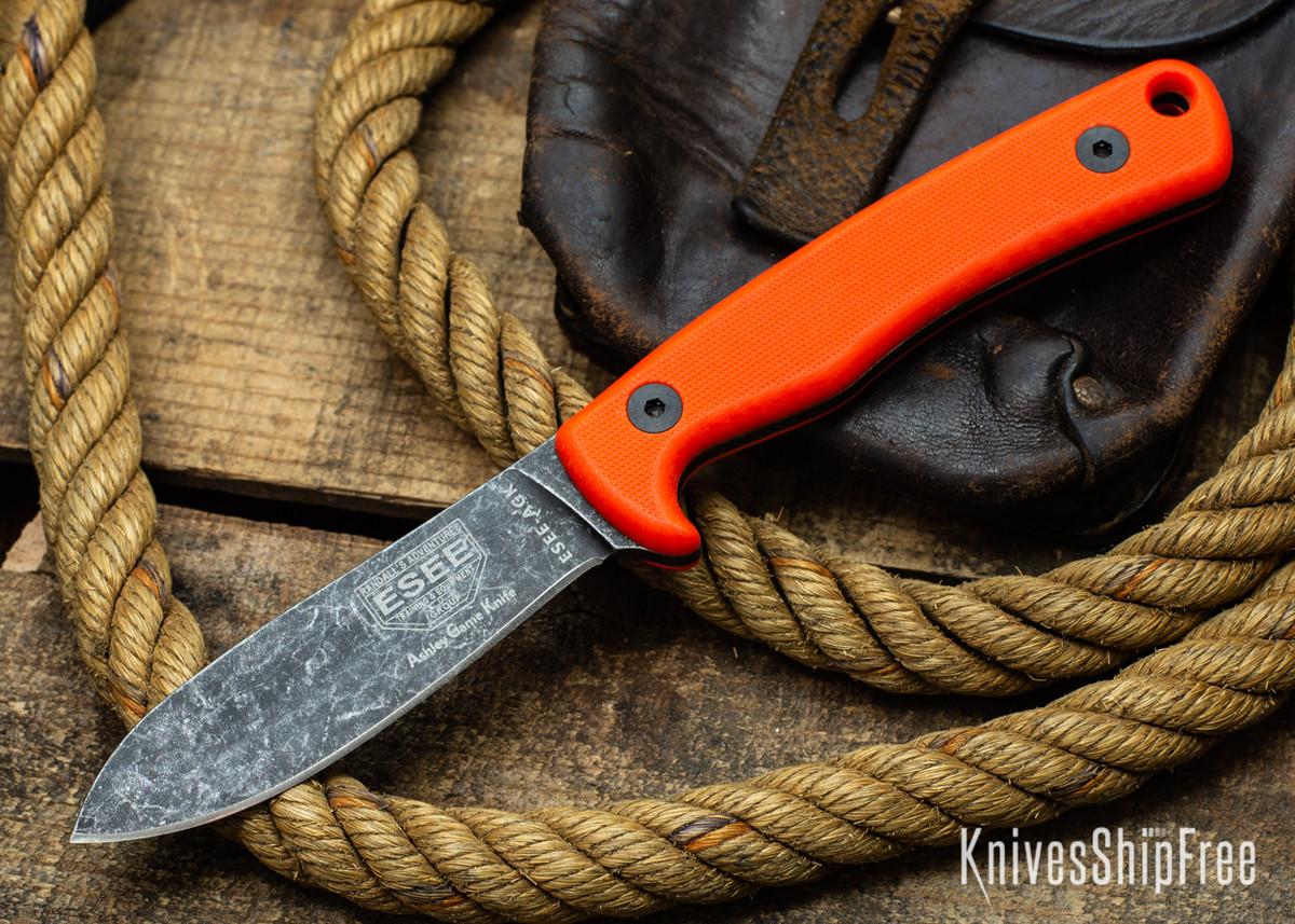 ESEE Knives: AGK Ashley Game Knife - Orange G-10 primary image
