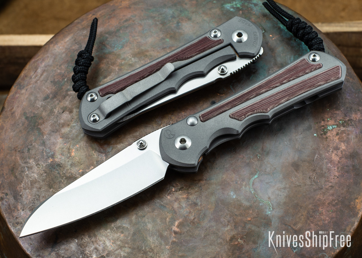 Chris Reeve Knives: Large Inkosi - Red Linen Micarta Inlay - Insingo Grind primary image