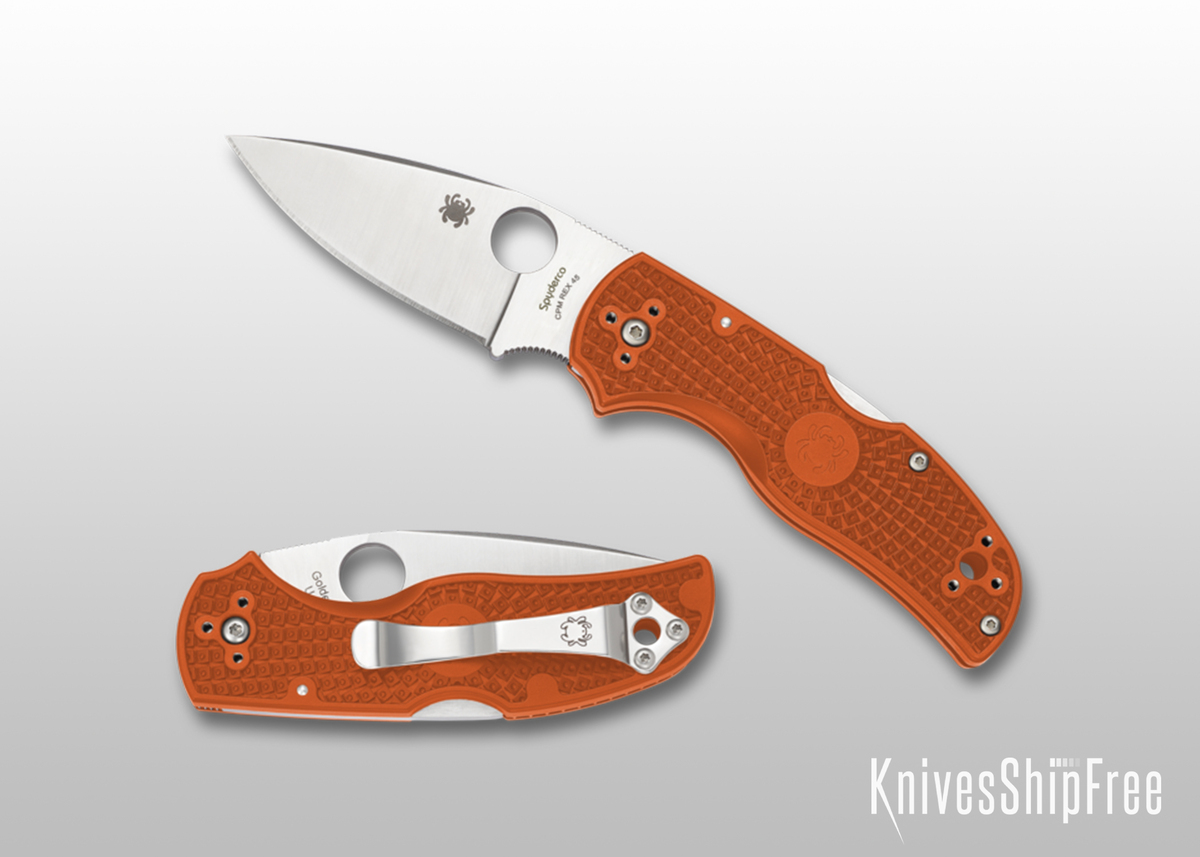Spyderco: Native 5 Lightweight Sprint Run - Burnt Orange FRN - REX 45 - C41PBORE primary image