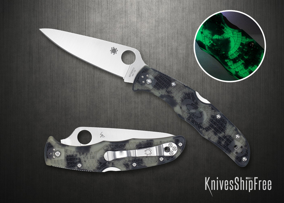 Spyderco: Endura 4 - Zome Glow-in-the-Dark FRN - VG-10 - C10ZFPGITD primary image