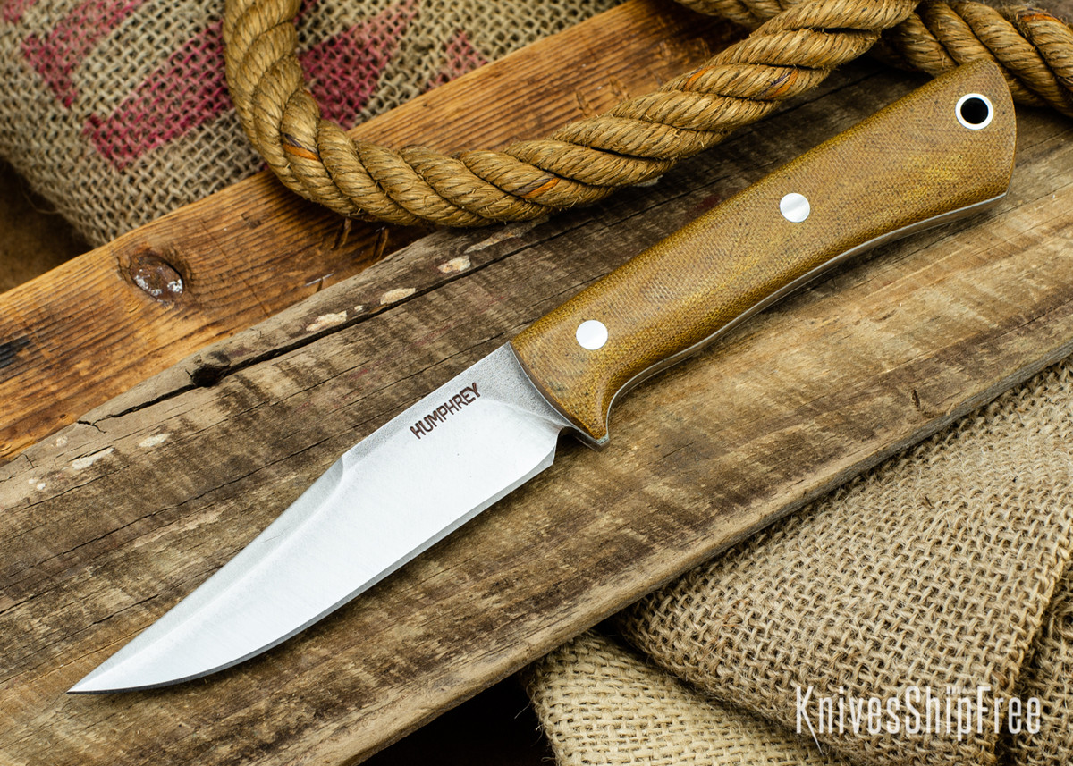 Lon Humphrey Knives: Minuteman 3V - Natural Micarta - White Liners - 050499 primary image