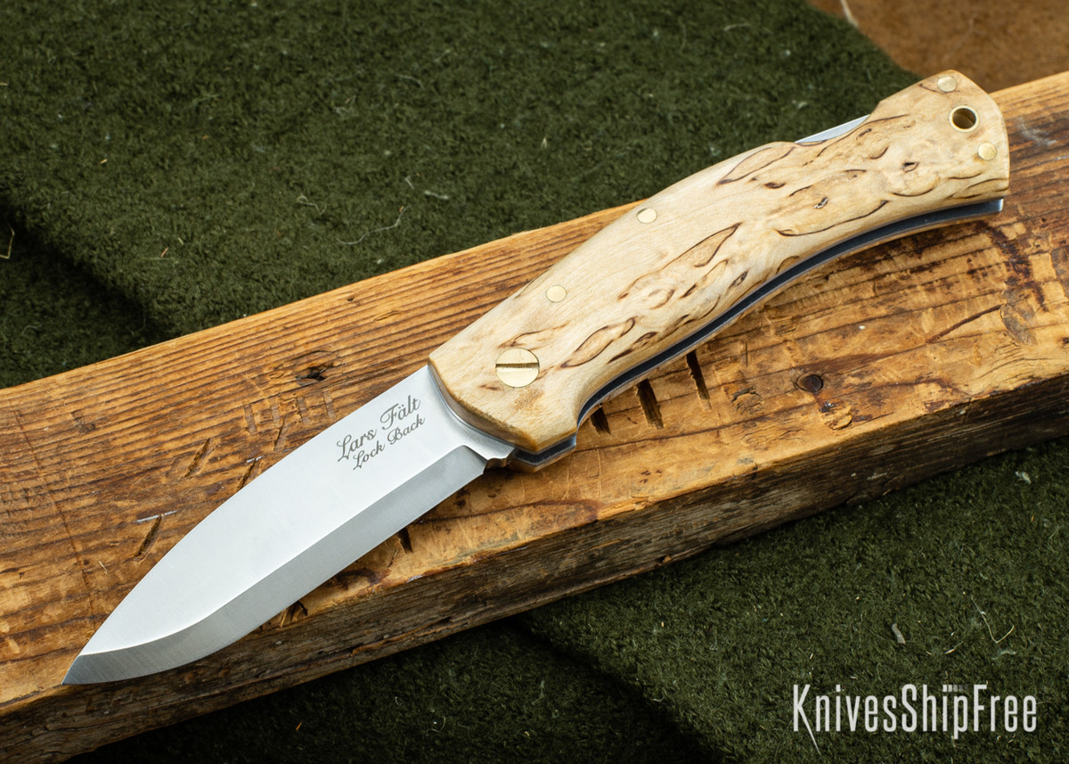 Casstrom: Lars Falt Scandi Lockback Folder - Curly Birch 110 primary image