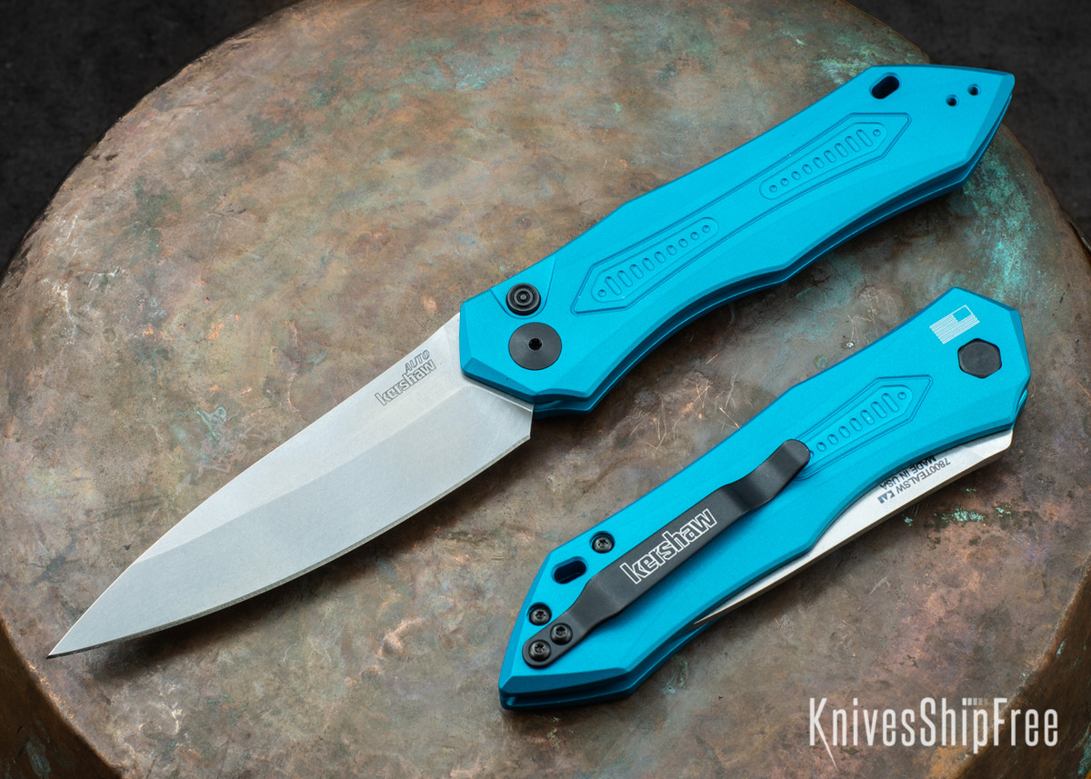 Kershaw Knives: Launch 6 - Teal Aluminum - Stonewashed - 7800TEALSW primary image