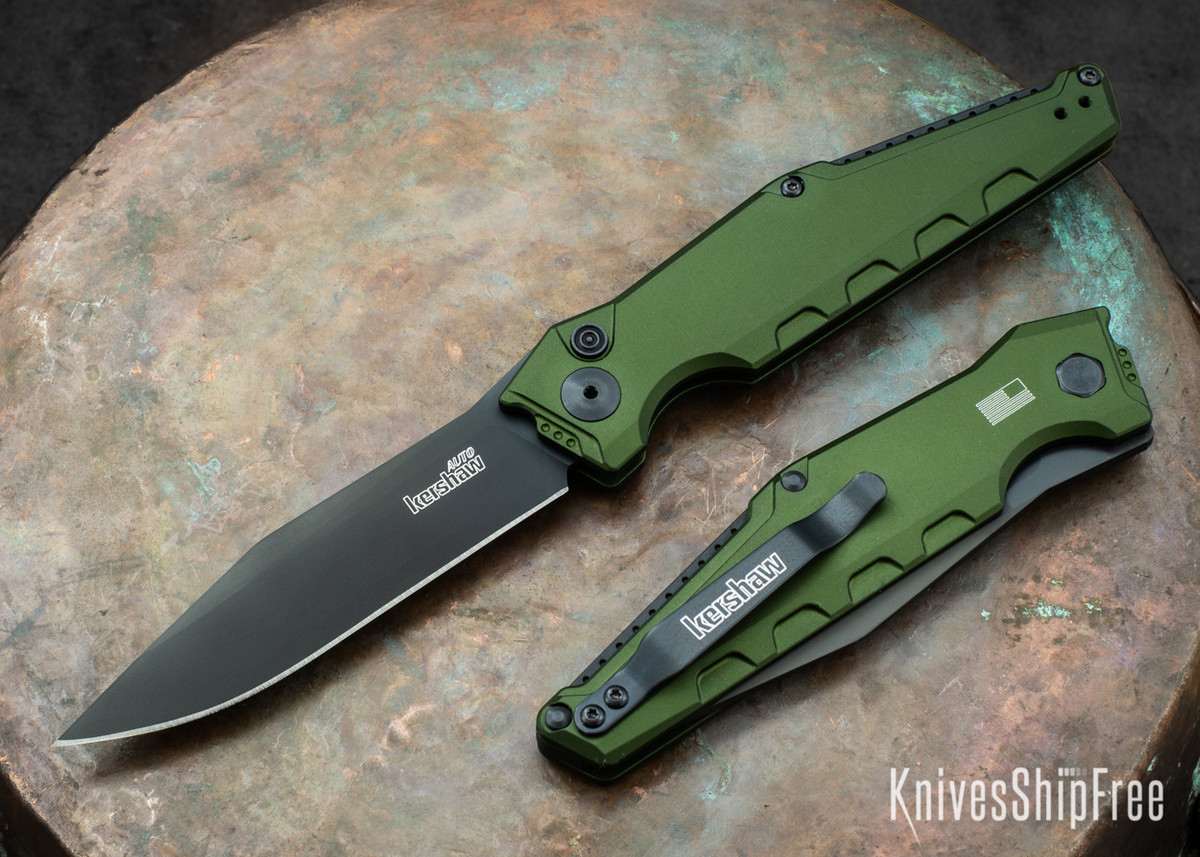 Kershaw Knives: Launch 7 - Olive Green Aluminum - Black DLC - 7900OL primary image