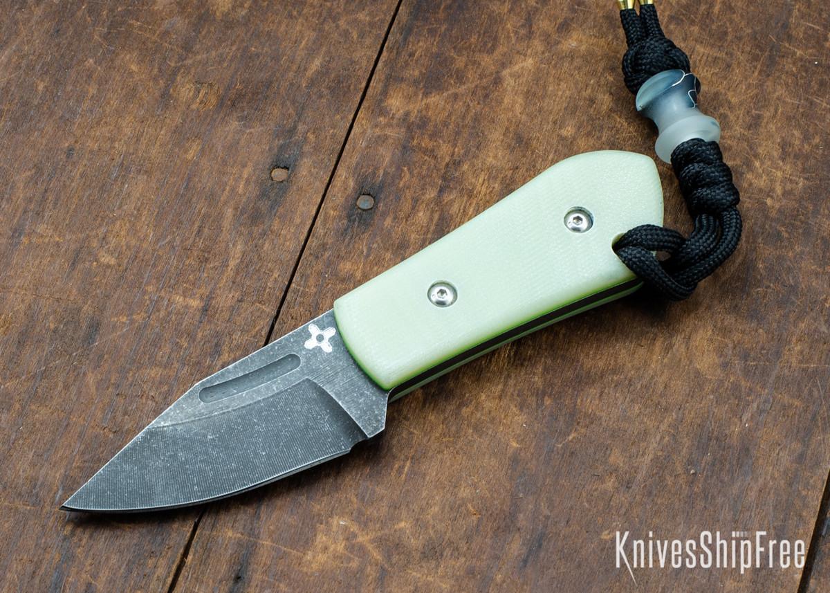 Joe Loui Knives: Chico #046 - Jade G-10 - Green Liners primary image
