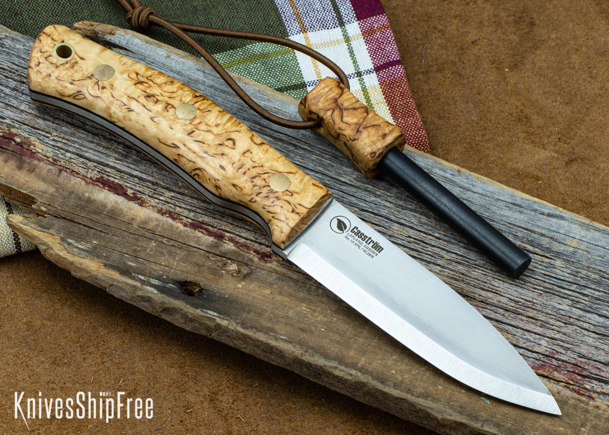 Casstrom: No.10 Swedish Forest Knife - Curly Birch w/ Firesteel - 17 primary image