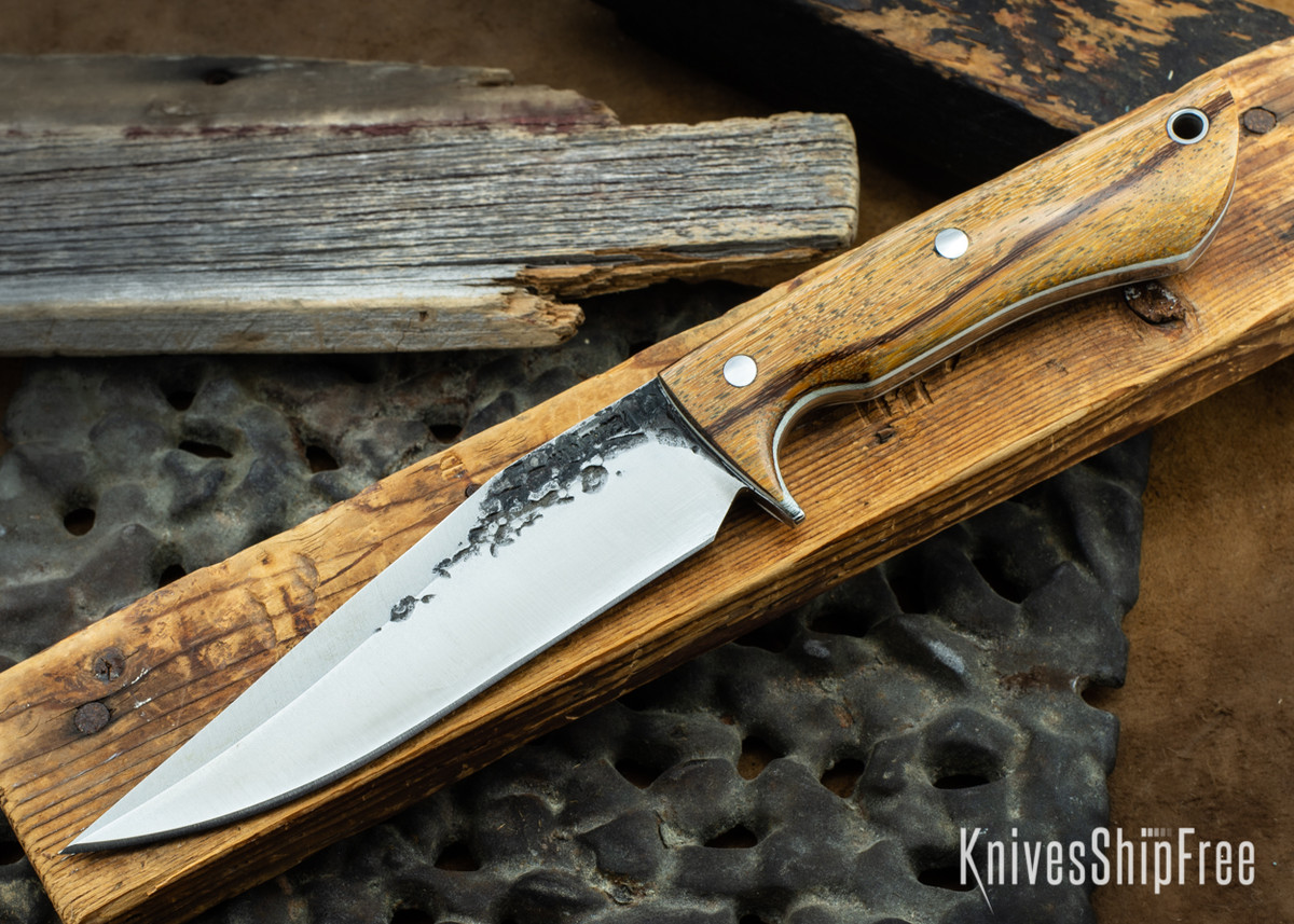 Lon Humphrey Knives: Monitor - 52100 - Marblewood - White Liners - 072133 primary image